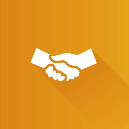 business team: Handshake icon in Metro user interface color style. Business people agreement Illustration