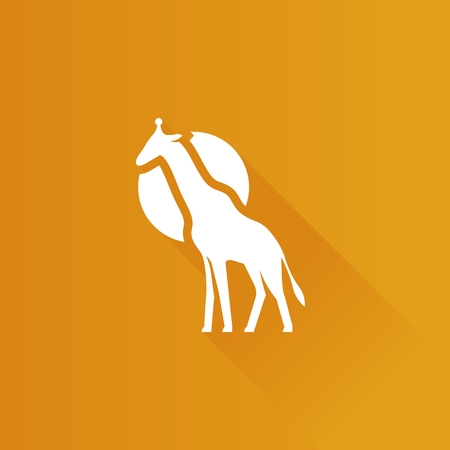 Giraffe icon in Metro user interface color style. Illustration
