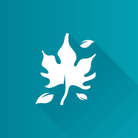 Maple leaf icon in Metro user interface color style. Autumn fall leaves Illustration