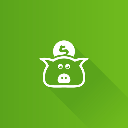 Coin piggy bank icon in Metro user interface color style. Saving kids bank