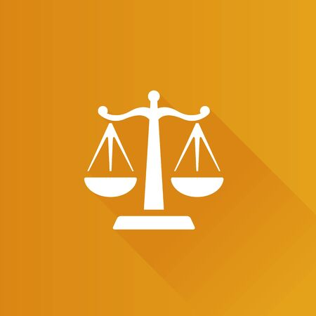 justice scale: Justice scale icon in Metro user interface color style. Law litigation balance Illustration