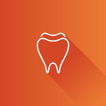 Tooth icon in Metro user interface color style. Toothpaste hygiene healthy Illustration