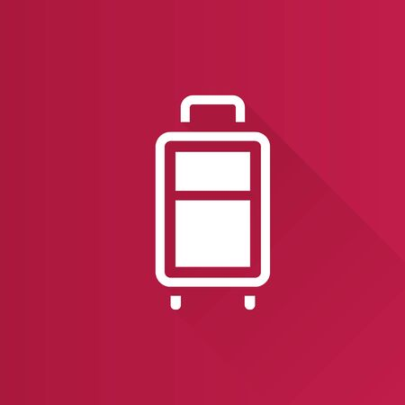 hard: Traveling suitcase icon in Metro user interface color style. Journey holiday business