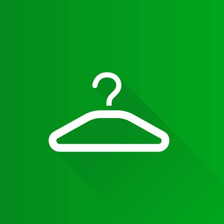 hangers: Clothes hanger icon in Metro user interface color style. Laundry household
