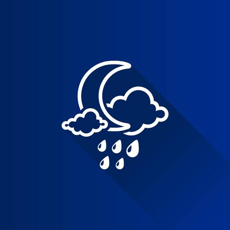 Weather overcast rainy icon in Metro user interface color style. forecast night raining cloudy cold Illustration
