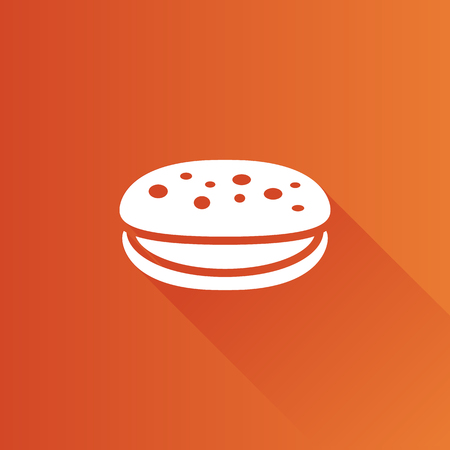 biscuits: Cake icon in Metro user interface color style. Food sweet delicious Illustration