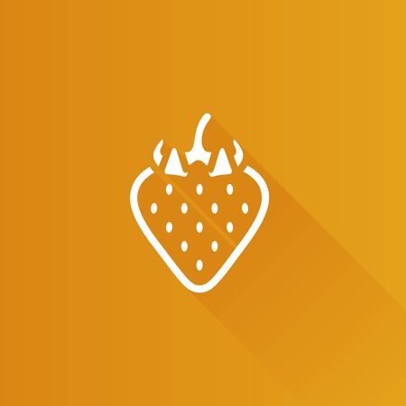 berry: Strawberry chocolate icon in Metro user interface color style. Fruit food dessert