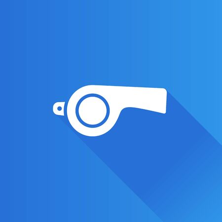 Whistle icon in Metro user interface color style. Sport referee competition Illustration
