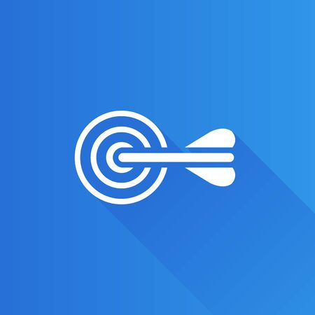 Arrow bullseye icon in Metro user interface color style. Business sport strategy