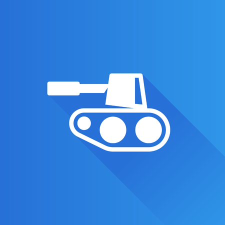 Tank icon in Metro user interface color style. Military weapon war. Illustration