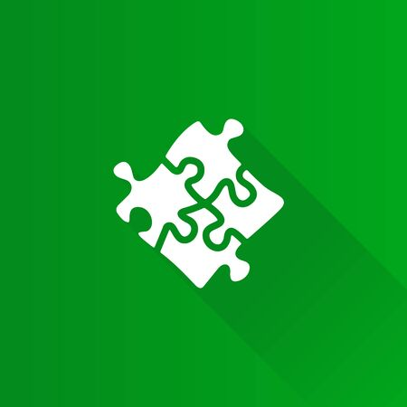 Puzzle icon in Metro user interface color style. Toy playing jigsaw match