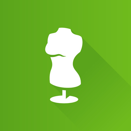 Mannequin icon in Metro user interface color style. Tailor dressmaker fashion