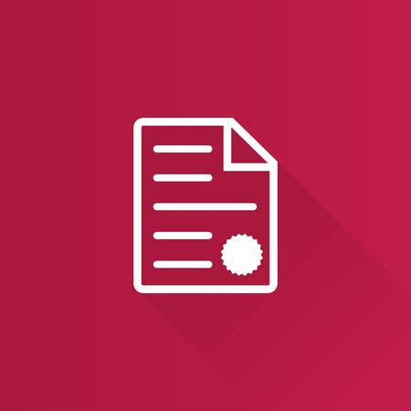 signing papers: Contract document icon in Metro user interface color style. Agreement arrangement loan