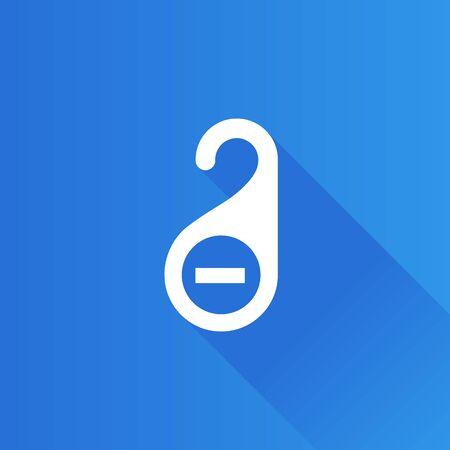 hangers: Door handle label icon in Metro user interface color style. Hotel room service