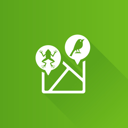 Zoo map icon in Metro user interface color style. Illustration