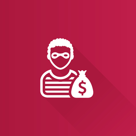Burglar icon in Metro user interface color style. People person thief steal