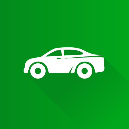 Car icon in Metro user interface color style. Sedan luxury Illustration