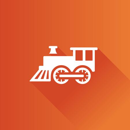 Locomotive toy icon in Metro user interface color style. Children games Illustration