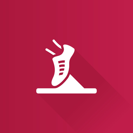 Starting block icon in Metro user interface color style. Sport sprint running Illustration