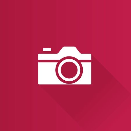 electronic: Camera icon in Metro user interface color style. Photography picture imaging