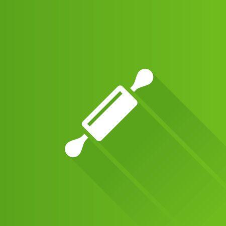 Icono de rodillo de madera en el estilo de color de interfaz de usuario de Metro. Panadería para pastelería Vectores
