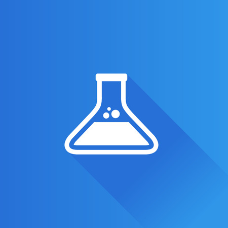 Beaker icon in Metro user interface color style. Labs research biology chemical