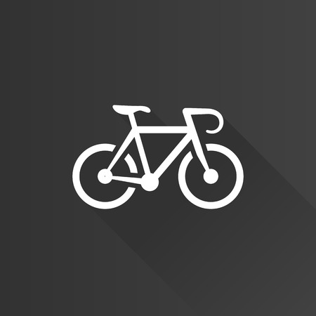 mobile phone icon: Road bicycle icon in Metro user interface color style. Sport race cycling