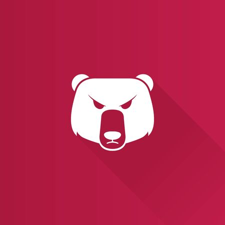 Bear icon in Metro user interface color style. Finance speculation trend Illustration