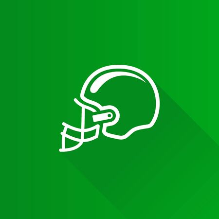 Football helmet icon in Metro user interface color style. Sport American head protection