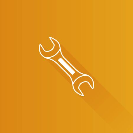 Bicycle wrench icon in Metro user interface color style. Sport transportation repair tool