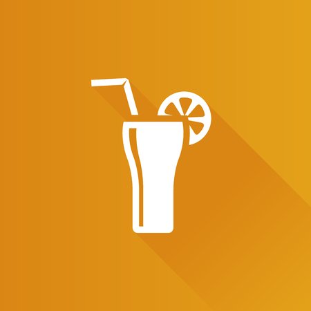 hard: Cocktail drink icon in Metro user interface color style. Margarita gin alcohol. Illustration