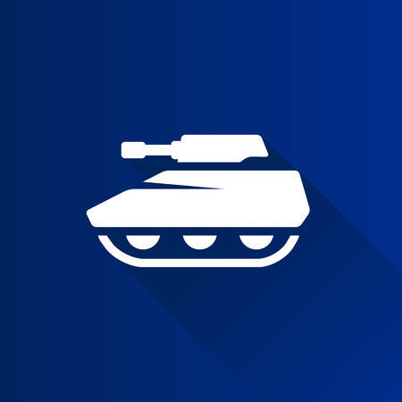 bullet proof: Tank icon in Metro user interface color style. Military weapon war. Illustration