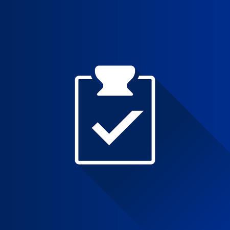 note paper: Checklist icon in Metro user interface color style. Office report information Illustration