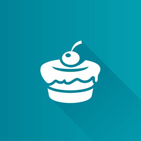 brown: Cake icon in Metro user interface color style. Food sweet delicious Illustration