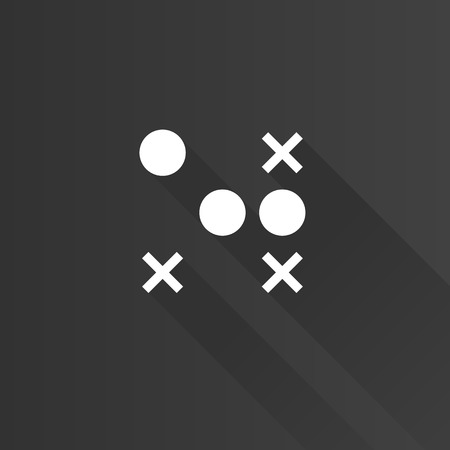 Strategy game icon in Metro user interface color style. Playing planning tactic