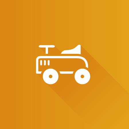 old telephone: Toy car icon in Metro user interface color style. Kids children playing Illustration