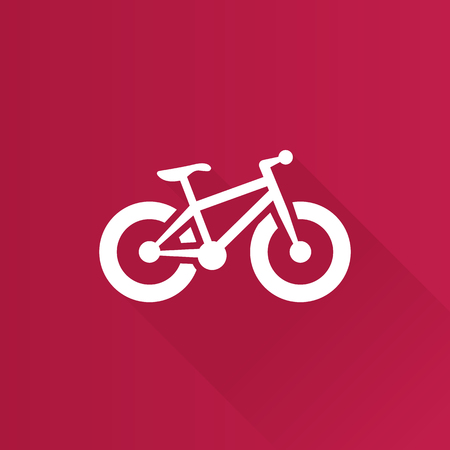 Fat tire bicycle icon in Metro user interface color style. Sport transportation explore