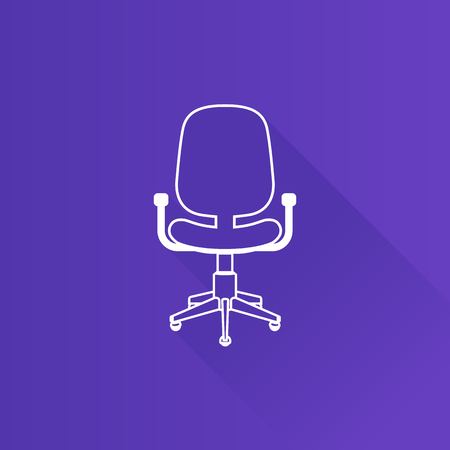telephone: Office chair icon in Metro user interface color style. Office supply furniture comfort Illustration