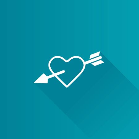 Arrow heart icon in Metro user interface color style. Love Valentine cupid Illustration