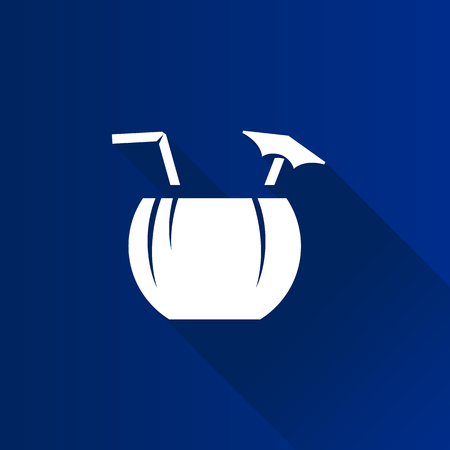 tropical drink: Coconut drink icon in Metro user interface color style. Tropical Asian.