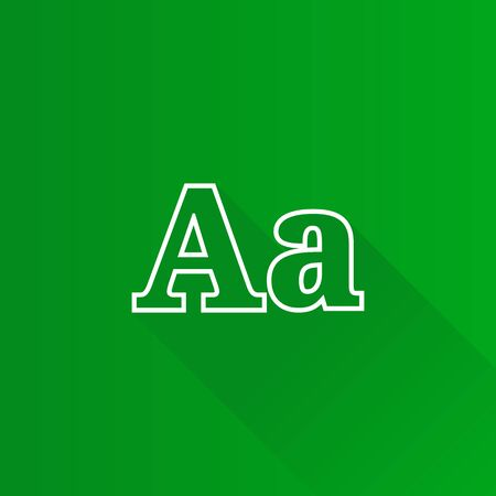 Font icon in Metro user interface color style. Letter graphic design Illustration
