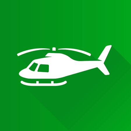 sky: Helicopter icon in Metro user interface color style. Transportation air aviation Illustration