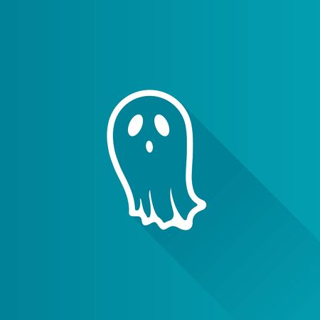Halloween ghost icon in Metro user interface color style. Spooky fear frighten Illustration