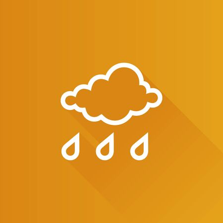 Rainy icon in Metro user interface color style. Season forecast monsoon wet