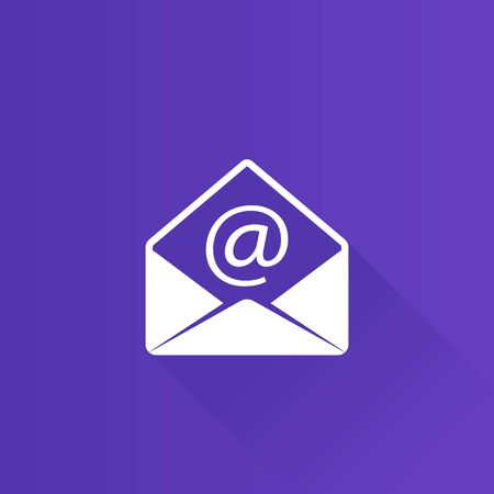 communication: Envelope icon in Metro user interface color style. Mail email message communication Illustration