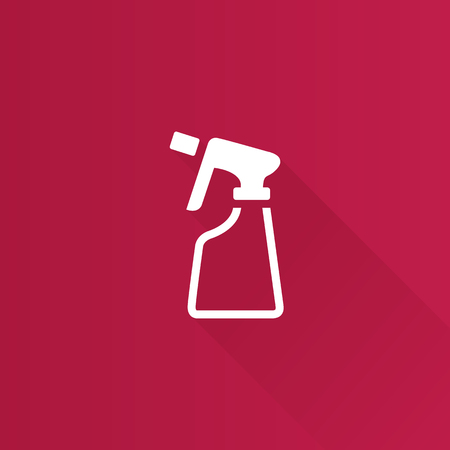 Sprayer bottle icon in Metro user interface color style. Gardening laundry liquid
