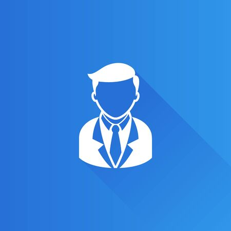 communication: Businessman icon in Metro user interface color style. Business office finance Illustration