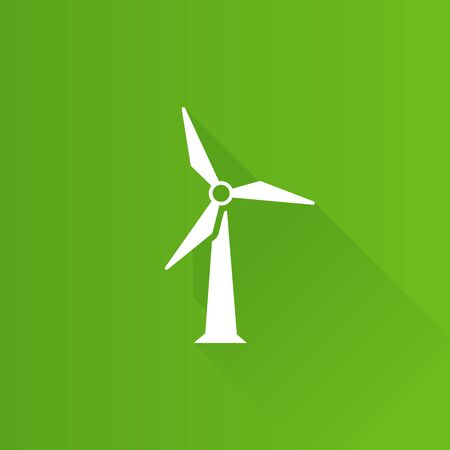 Wind turbine icon in Metro user interface color style. Power generation renewable energy Illustration
