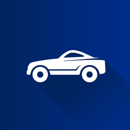 Sport car icon in Metro user interface color style. Luxury speed coupe