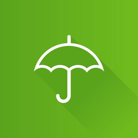 Umbrella icon in Metro user interface color style. Valentine love present
